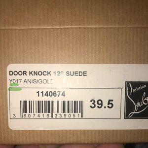 Louboutin door knock 120 suede